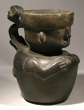 Chimu - Inca Blackware Figural Vessel