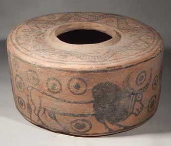 Indus Valley Harappan Pottery Pyxis Vessel