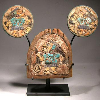 Moche Ear Spools and Pectoral Custom Display Stand