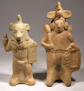 Mayan - Jaina Insland Warrior Whistle Figures