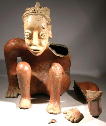 Jalisco, Ameca Crouching Figure - Before