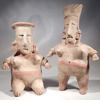 Pre-Columbian West Mexico Jalisco Matched Pair Figures