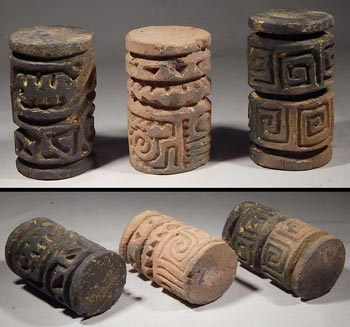 Pre-Columbian Ecuador Jamacoaque Sello Roller Stamp Seals