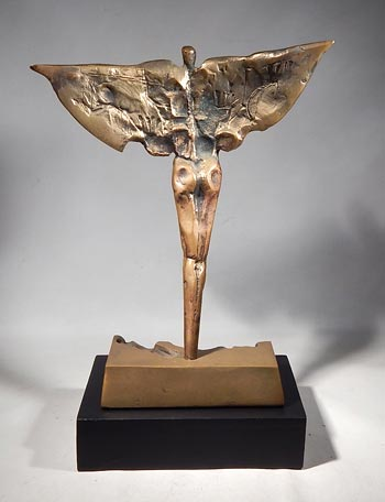 Bronze Sculpture by Slovenian surrealist Janez Boljka Custom Display Stand.(front)