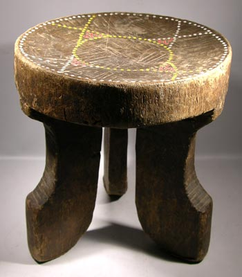 Kamba Beaded Stool - Kenya