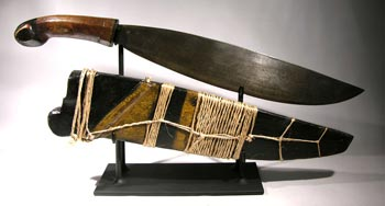Philippines, Jolo Island Knife and Sheath Custom Display Stand