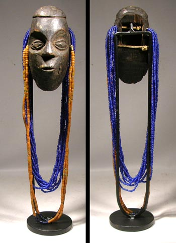 Konyak Nag Chest Ornament Mask with Beads