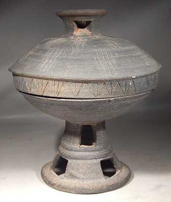 Ancient Korean Silla Dynasty Pedestal Bowl Covered Dish