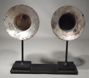 Pre-Columbian Peru Lambayeque Silver Ear Spools Flares