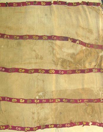 Large Chancay Gauze Textile Panel