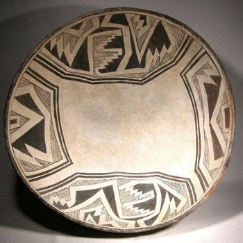 Large Mimbres Pottery Bowl  - After