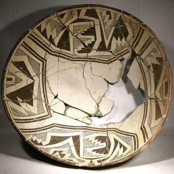 Large Mimbres Pottery Bowl - Before