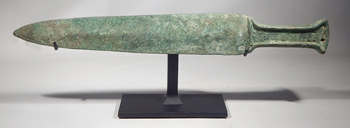Ancient Luristan Bronze Sword Custom Display Stand.