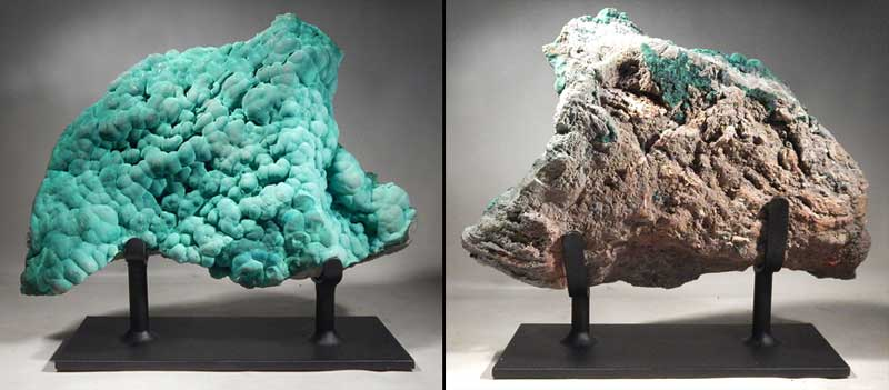 Malachite Natural Formation Specimen Custom Display Stand