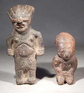 Ancient Ecuador Manteno Jamacoaque Miniature Figures