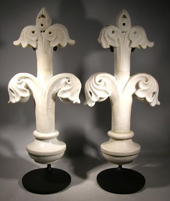 Antique Marble Carving Custom Display Stands - front