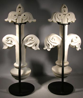 Antique Marble Carving Custom Display Stands- back