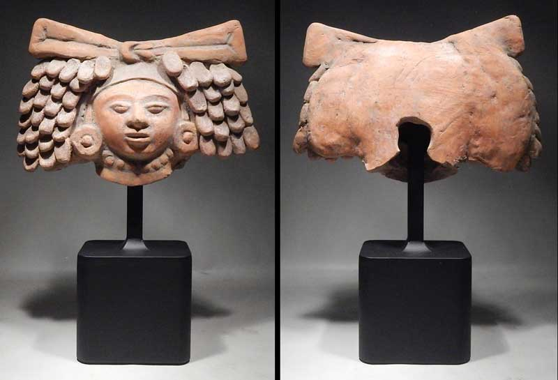 Pre-Columbian Maya Head Fragment Tiquisate Escuintla Pacific Slope Guatemala Custom Display Stand