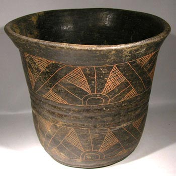 Maya Post Classic Incised Vessel