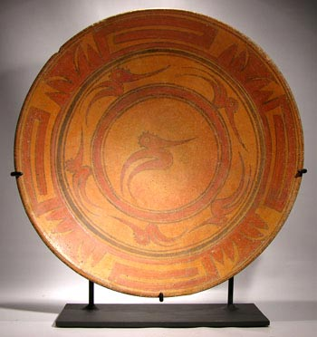 Peten Maya Plate Custom Display