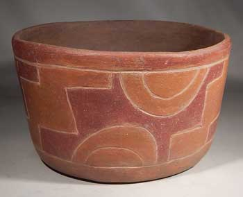 Pre-Columbian Maya Mayan Post Classic Pottery Bowl Vessel