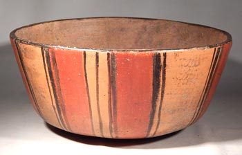 Maya Polychrome Striped Bowl