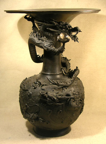 Meiji Dragon Vase