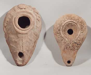 Near Eastern Roman Egyptian Pottery Oil Lamps