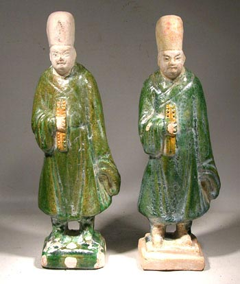 Ming Dynasty Tomb Figures - Matched Pair