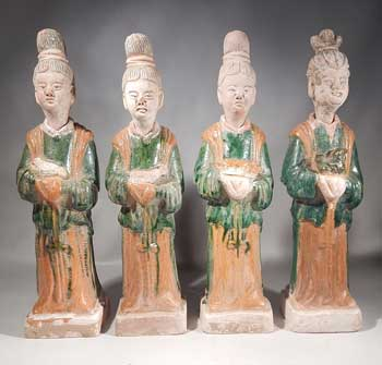 Ming Dynasty Tomb Figures Matched Set