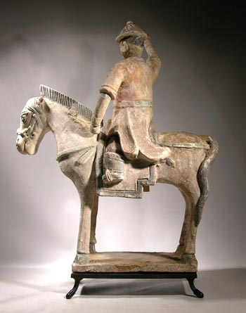 Ming Dynasty Horse and Rider Custom Display Stand- back