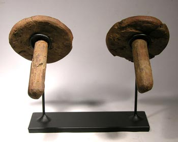 Moche Ear Spools Custom Display Stand