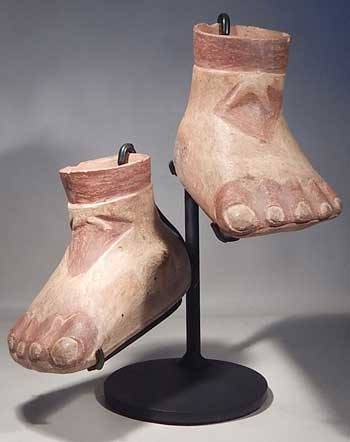 Ancient Moche Feet Custom Display Stand (front).