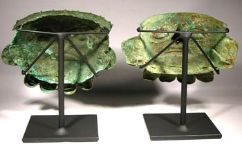 Moche Copper Masks Custom Display Stands