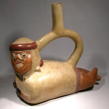 Moche Diseased Person Stirrup Vessel - After