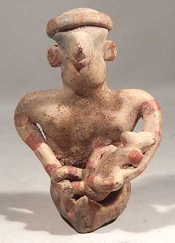 Pre-Columbian Nayarit Maternal Figure Mother and Child West Mexico