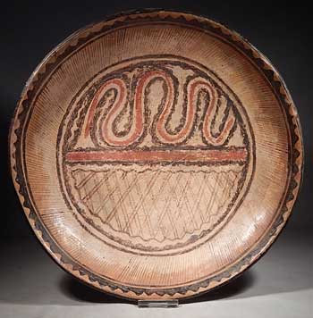 Ancient West Mexico Nayarit Polychrome Pottery Plate Bowl Vessel