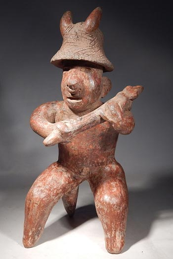 Pre-Columbian Nayarit Warrior Figure West Mexico