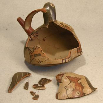 Nazca Bird Vessel - Before