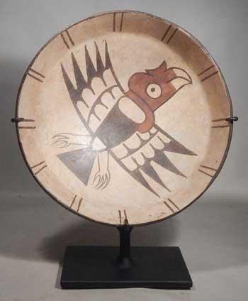 507b9322 Pre-Columbian Peru Nazca Polychrome Condor Bowl Vessel