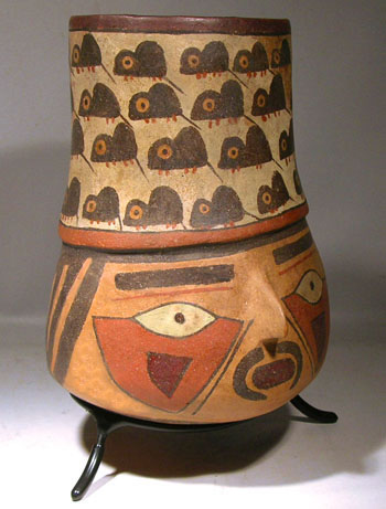Nazca Portrait Kero Vessel  - After