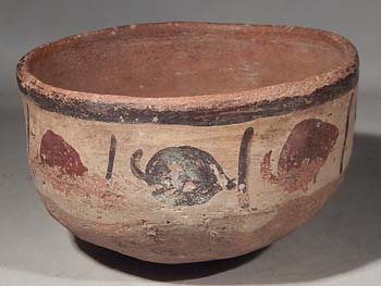 Ancient Peru Nazca Bowl Vessel Chili Peppers