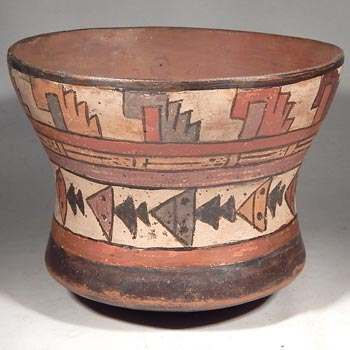 Nazca Polychrome Stingray Vessel