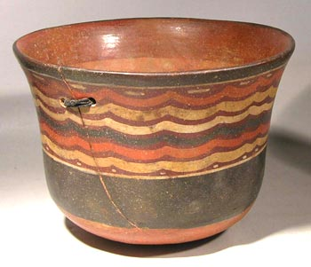 Nazca Polychrome Striped Vessel