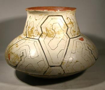 Old Shipibo Pottery Olla-Form Vessel