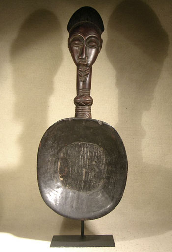 African Pende Spoon Custom Display
