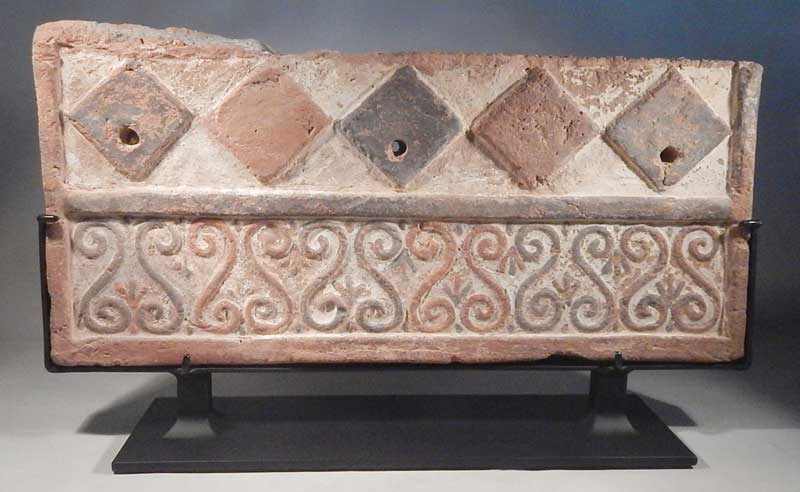 Phrygian Wall Tile Frieze Fragment Custom Display Stands