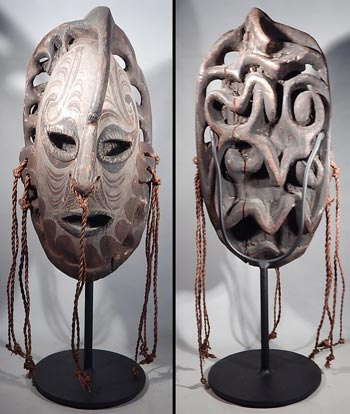 Papua New Guinea Ancestoral Mask Wood Carving