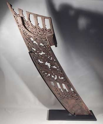 Papua New Guinea Canoe Prow Custom Display Stand (back).