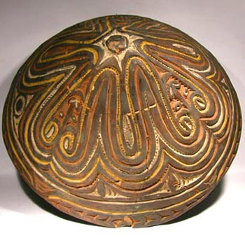 Papua New Guinea Sawos pottery bowl - Before